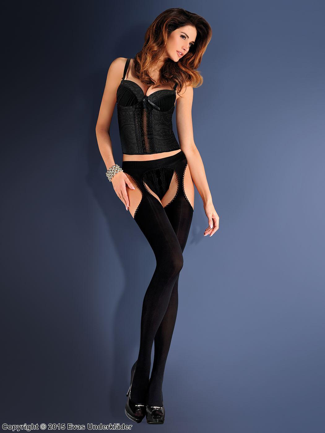 Opaka strumpbyxor med stockings-känsla